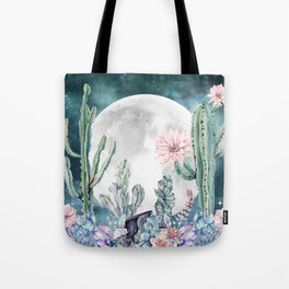 Desert Nights Gemstone Oasis Moon Tote Bag