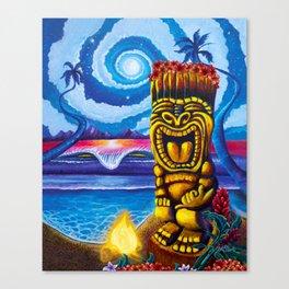 Tiki Moon Canvas Print