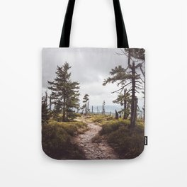 Over the mountains and through the woods Tote Bag