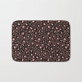 Leopard Print 2.0 - Brown & Blush Bath Mat
