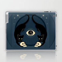 Midnight Cats Doing Their Dark Business Laptop & iPad Skin