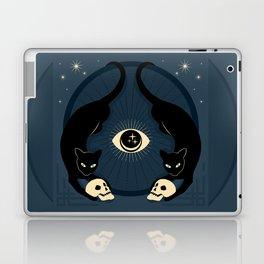 Midnight Cats Doing Their Dark Business Laptop & iPad Skin