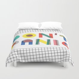 Don't Panic, it's Retro Duvet Cover