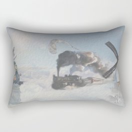 au-dessus des nuages-above the clouds Rectangular Pillow