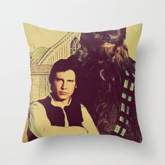 Chewbacca & Han Solo - American Gothic Throw Pillow