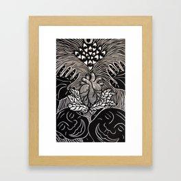 Higher Frequency Vibration. Framed Art Print