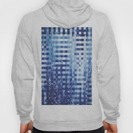 Nautical pixel abstract pattern Hoody