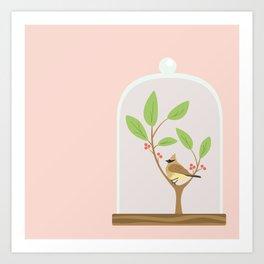 Taxidermy Bird Art Print