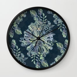 Floral Doodle Wall Clock