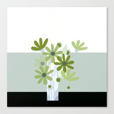 modern flowers in vase Canvas Print