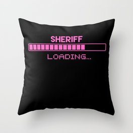 Sheriff Loading Throw Pillow