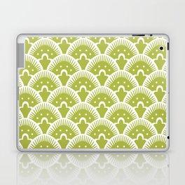 Fan Pattern Chartruese 201 Laptop & iPad Skin