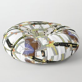 MOTHS ABSTRACT ON BLACKTHORNE LATTICE Floor Pillow