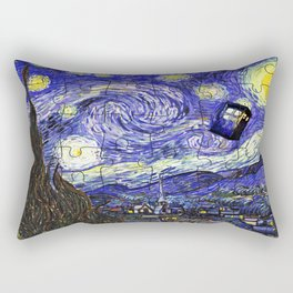 TARDIS STARRY NIGHT Rectangular Pillow