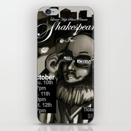 Shakespeare In Hollywood Poster iPhone Skin