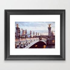 Pont Alexandre III Paris. Framed Art Print