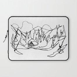Cozy Winter Cabin :: Single Line Laptop Sleeve