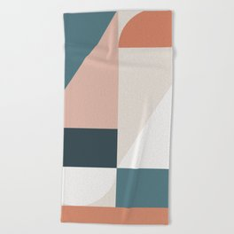 Cirque 01 Abstract Geometric Beach Towel