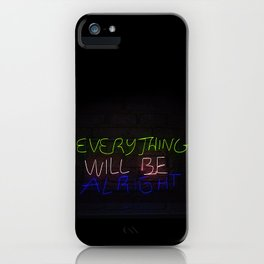 Everything in Neon iPhone Case