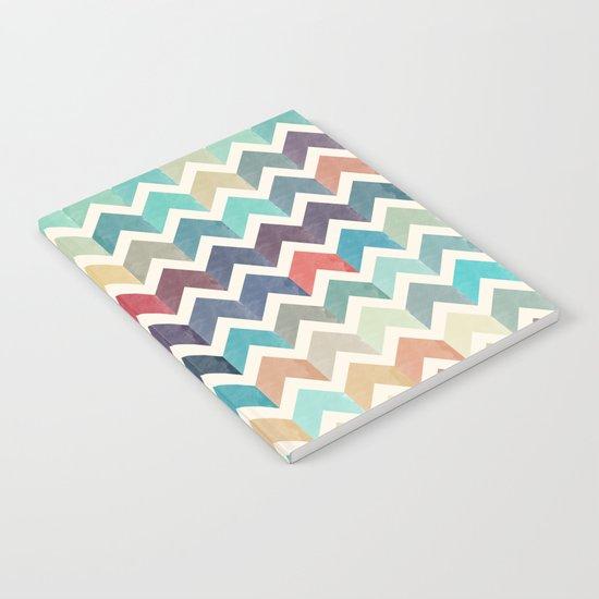 Watercolor Chevron Pattern Notebook