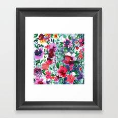 Evie Floral Framed Art Print