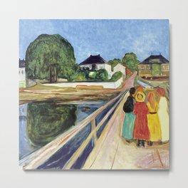 Girls on the bridge by Edvard Munch, 1902 Metal Print