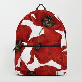Ladybird,poppy flower pattern.ladybug design Backpack
