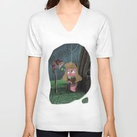 aurora V-neck T-shirts featuring Aurora by David Pavon