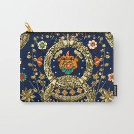 Art Nouveau Floral Pattern Carry-All Pouch