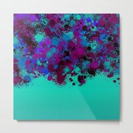 paint splatter on gradient pattern tgp Metal Print