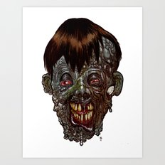 Heads of the Living Dead  Zombies: Rotten Shame Zombie Art Print