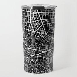 Madrid city map black&white Travel Mug