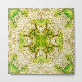 Profusion of star flowers mandala Metal Print