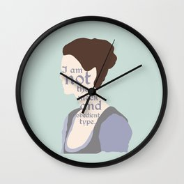Claire Fraser Quote Wall Clock