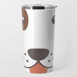 Dog Emoji Bloodhound Gift Idea Travel Mug