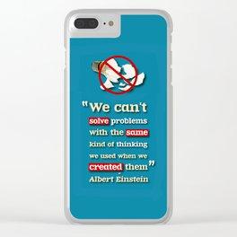Einstein on Problem Solving Clear iPhone Case