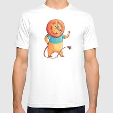 lion Mens Fitted Tee MEDIUM White