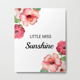 Little Miss Sun Metal Print