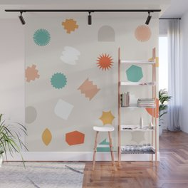 Floating geos Wall Mural