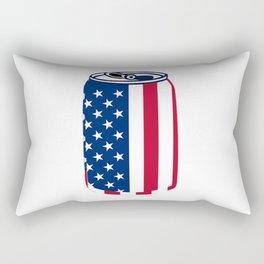American Beer Can Flag Rectangular Pillow