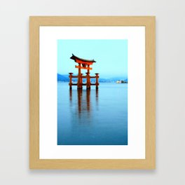 itsukushima shrine, miyajima Framed Art Print
