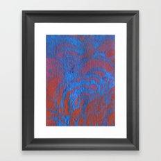 Drawing Meditation: Stencil 1 - Print 10 (blue) Framed Art Print