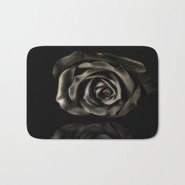 Black vampire rose Bath Mat