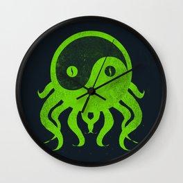 yin yang cthulu Wall Clock