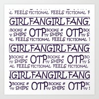 fangirl Art Prints featuring Fangirl by amyskhaleesi