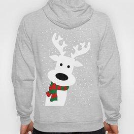 Reindeer in a snowy day (green) Hoody