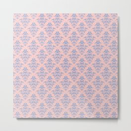 Damask Pattern | Rose Quartz and Serenity | Pantone Colors of the Year 2016 Metal Print