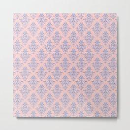 Damask Pattern | Vintage Patterns | Rose Quartz | Serenity | Pantone Colors of the Year 2016 Metal Print