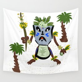 Tiki Hito San Wall Tapestry