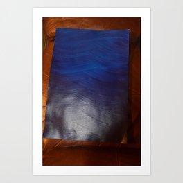 Aqua print Art Print